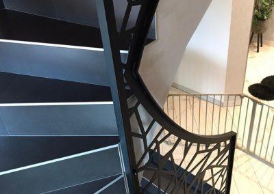 escalier metallique inoxx alsace